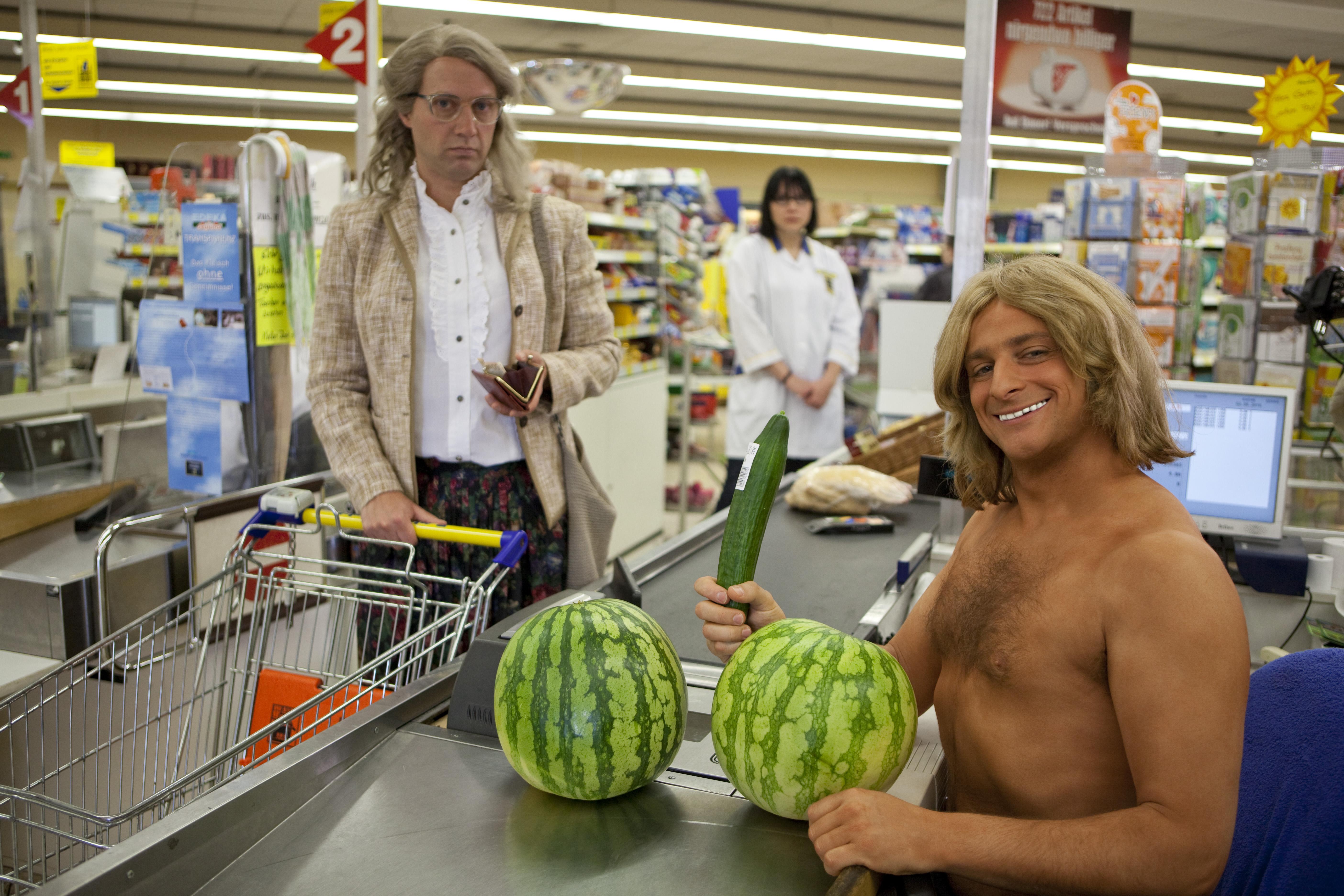 John Decker im Supermarkt